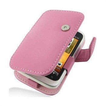 HTC Wildfire S PDair Leather Case 3JHTWSB41 Vaaleanpunainen