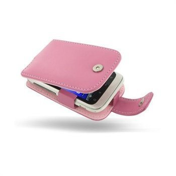 HTC Wildfire S PDair Leather Case 3JHTWSF41 Vaaleanpunainen