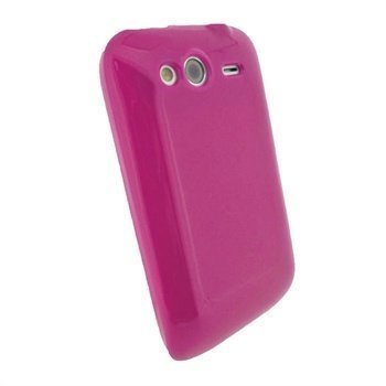 HTC Wildfire S iGadgitz TPU-Suojakotelo Pinkki
