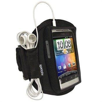 HTC Wildfire S iGadgitz Vedenkestävä Käsivarsikotelo Musta