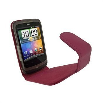 HTC Wildfire iGadgitz Leather Case Pink