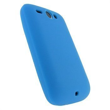 HTC Wildfire iGadgitz Silikonikotelo Sininen