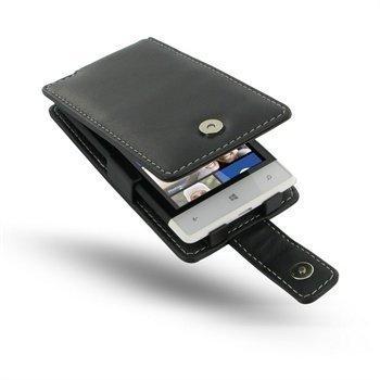 HTC Windows Phone 8S PDair Leather Case 3BHT8SF41 Musta