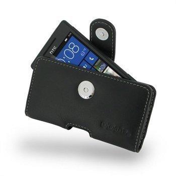 HTC Windows Phone 8S PDair Vaakakotelo Nahka Musta