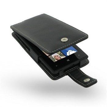 HTC Windows Phone 8X PDair Leather Case 3BHT8XF41 Musta