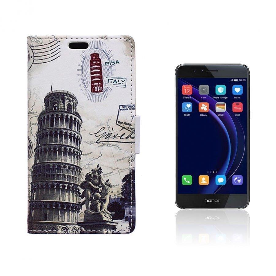 Hagerup Huawei Honor 8 Nahkakotelo Lompakko Pisan Kalteva Torni