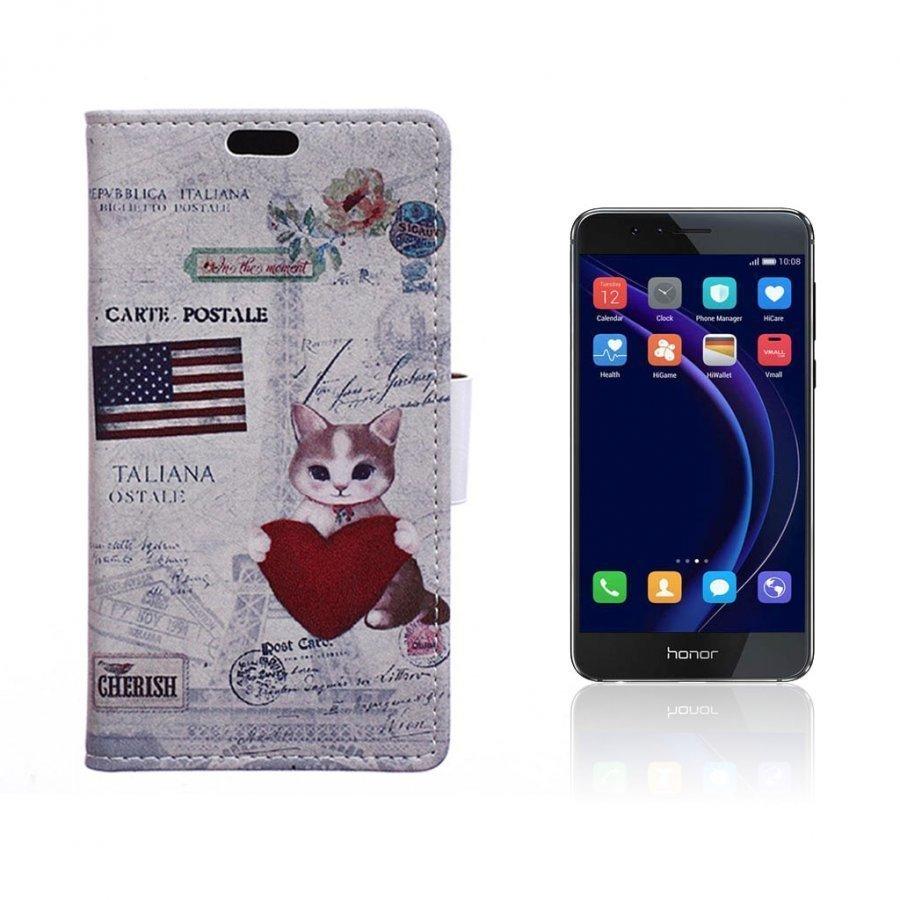 Hagerup Huawei Honor 8 Nahkakotelo Lompakko Sydän