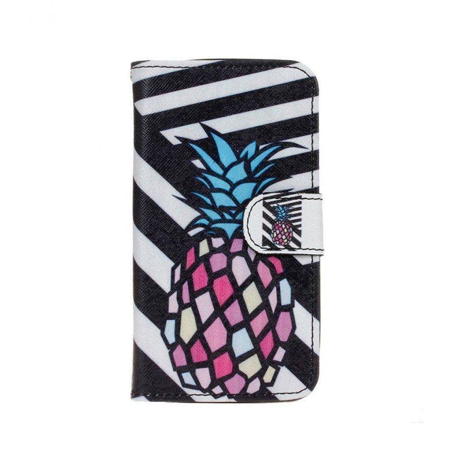Hagerup Huawei Y5 Y560 Nahkakotelo Lompakko Läpällä Ananas