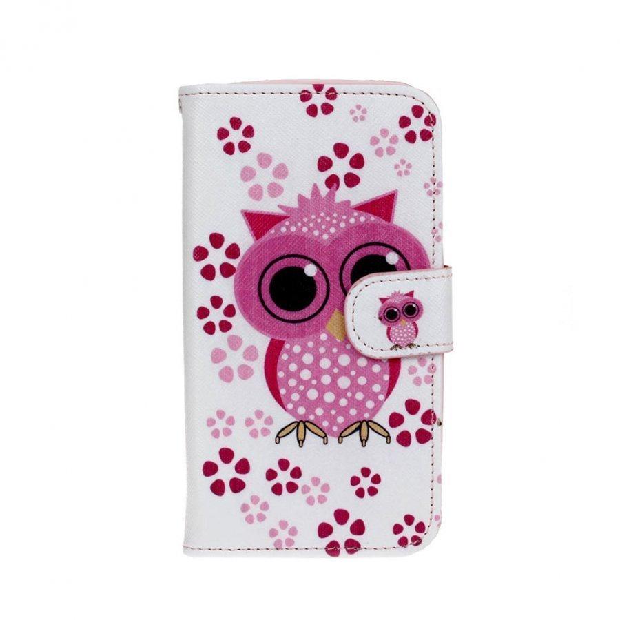 Hagerup Huawei Y5 Y560 Nahkakotelo Lompakko Läpällä Ihastuttava Pöllö