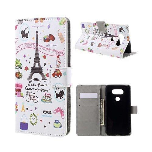 Hagerup Lg G5 Nahkakotelo Korttitaskuilla Eiffel Torni