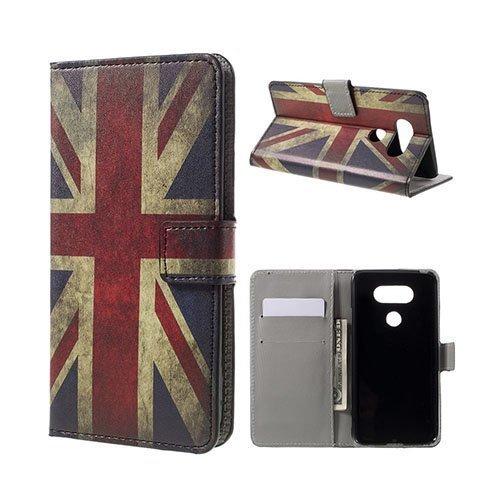 Hagerup Lg G5 Nahkakotelo Korttitaskuilla Vanhanaikainen Britannian Lippu