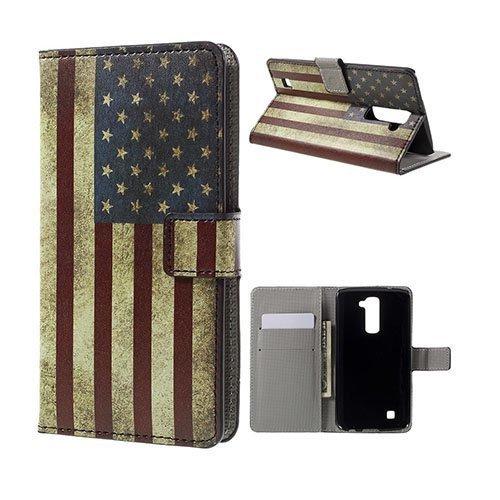 Hagerup Lg K10 Nahkakotelo Korttitaskuilla Vanhanaikainen Amerikan Lippu