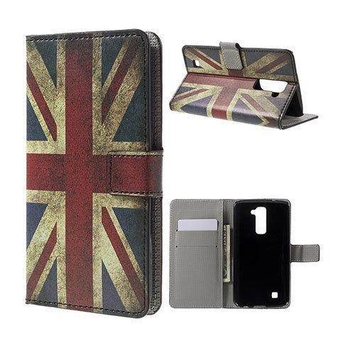 Hagerup Lg K10 Nahkakotelo Korttitaskuilla Vanhanaikainen Britannian Lippu