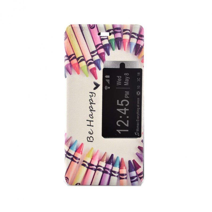 Hagerup Suojaava Nahkakotelo Huawei P9 Puhelimelle Värikynistä Tehty Sydän