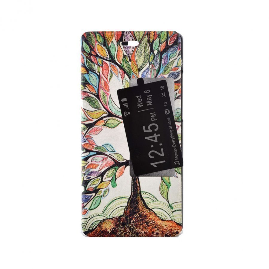 Hagerup Suojaava Nahkakotelo Huawei P9 Puhelimelle Väritetty Puu