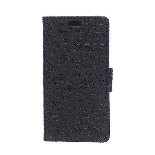 Halfdan Huawei Y360 Nahkakotelo Korttitaskuilla Musta