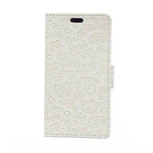 Halfdan Huawei Y360 Nahkakotelo Korttitaskuilla Valkoinen
