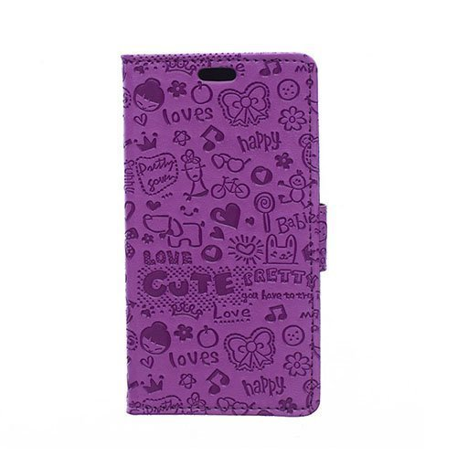 Halfdan Huawei Y360 Nahkakotelo Korttitaskuilla Violetti