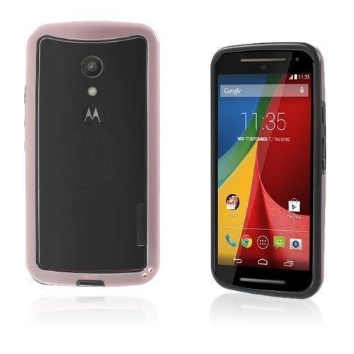 Hamsum Vaaleanpunainen Motorola Moto G2 Bumper Suojakehys