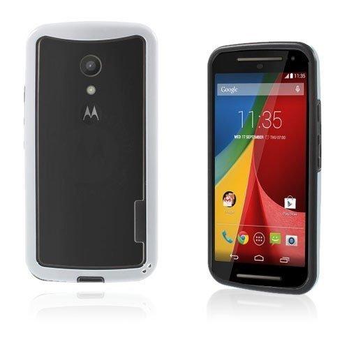 Hamsum Valkoinen Motorola Moto G2 Bumper Suojakehys