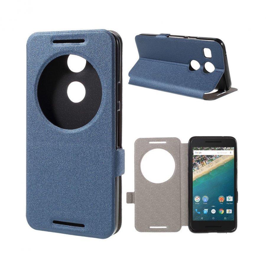 Hamsun Google Nexus 5x Hiekkakuvio Nahkakotelo Läpällä Sininen