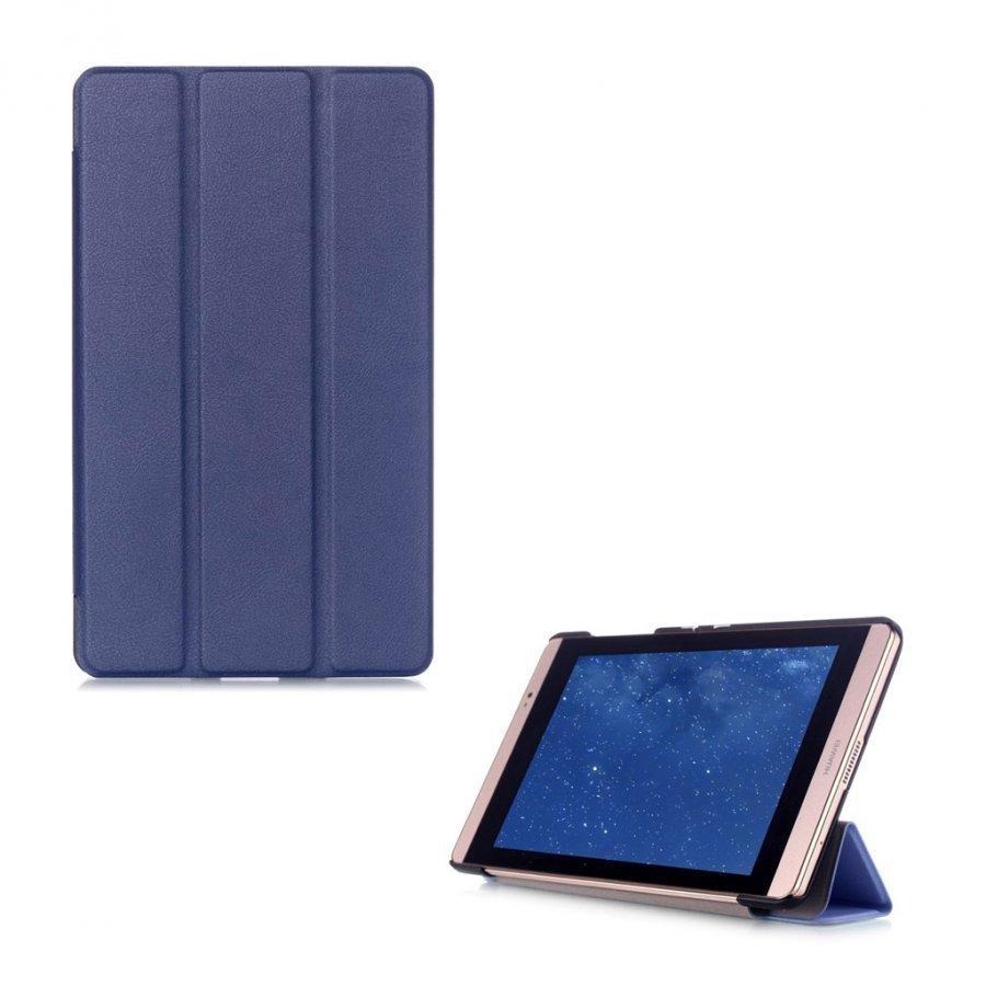Hamundarson Huawei Mediapad M2 8 Kolmesti Taittuva Nahkakotelo Tummansininen