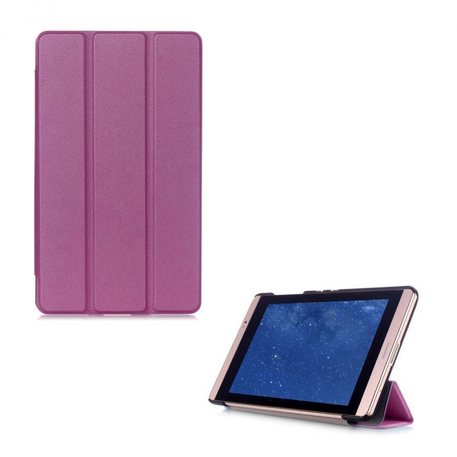 Hamundarson Huawei Mediapad M2 8 Kolmesti Taittuva Nahkakotelo Violetti