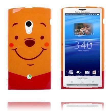 Happy Cartoon Oranssi Sony Ericsson Xperia X10 Suojakuori