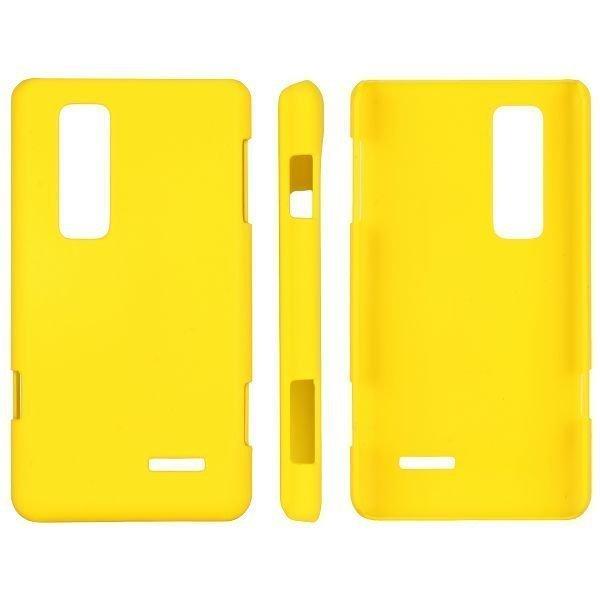 Hard Shell Keltainen Lg Optimus 3d Max Suojakuori
