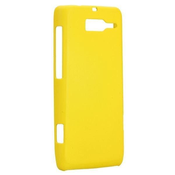 Hard Shell Keltainen Motorola Droid Razr M Suojakuori