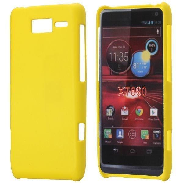 Hard Shell Keltainen Motorola Razr I Suojakuori