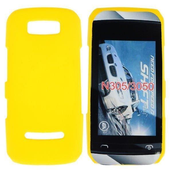 Hard Shell Keltainen Nokia Asha 305 Suojakuori