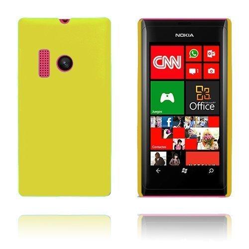 Hard Shell Keltainen Nokia Lumia 505 Suojakuori