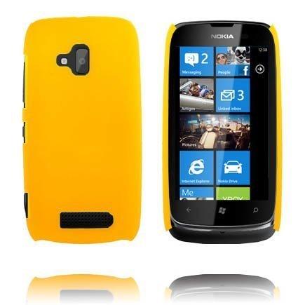 Hard Shell Keltainen Nokia Lumia 610 Suojakuori