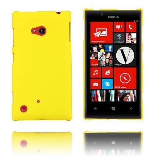 Hard Shell Keltainen Nokia Lumia 720 Suojakuori