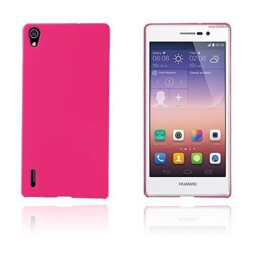 Hard Shell Kuuma Pinkki Huawei Ascend P7 Suojakuori