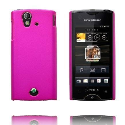 Hard Shell Kuuma Pinkki Sony Ericsson Xperia Ray Suojakuori