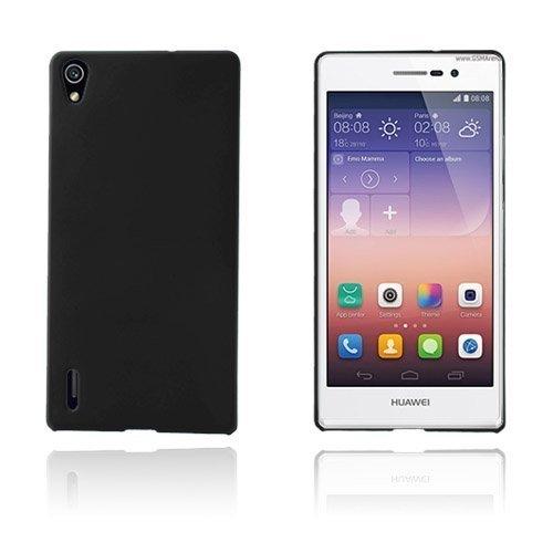 Hard Shell Musta Huawei Ascend P7 Suojakuori