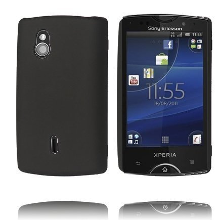 Hard Shell Musta Sony Ericsson Xperia Mini Pro Suojakuori