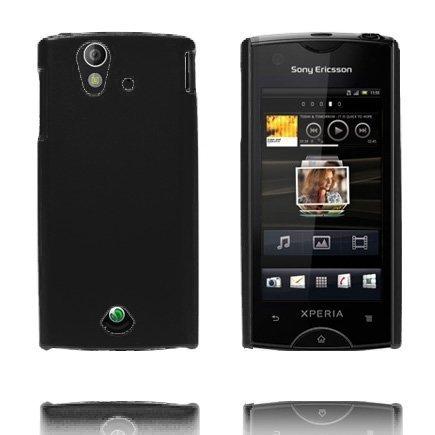 Hard Shell Musta Sony Ericsson Xperia Ray Suojakuori