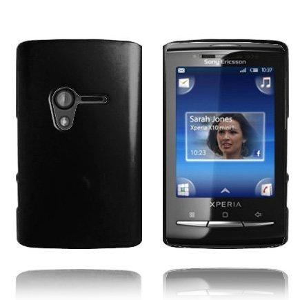 Hard Shell Musta Sony Ericsson Xperia X10 Mini Suojakuori