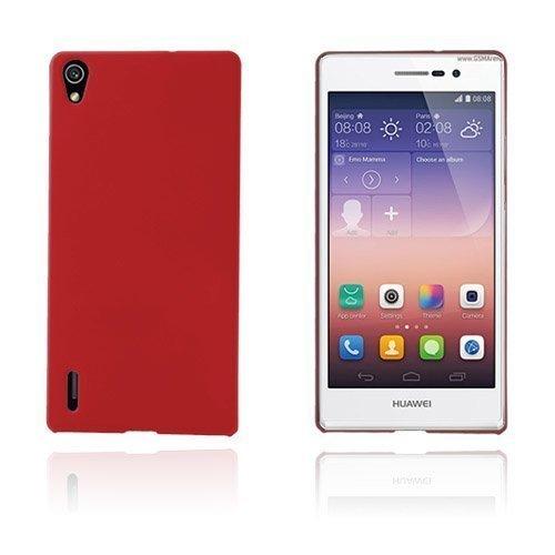 Hard Shell Punainen Huawei Ascend P7 Suojakuori