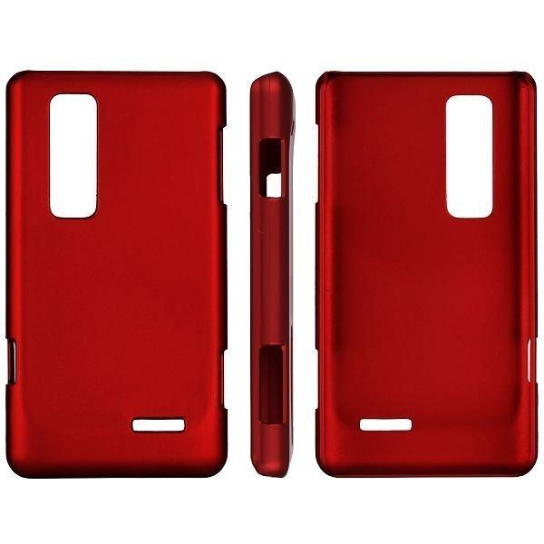Hard Shell Punainen Lg Optimus 3d Max Suojakuori