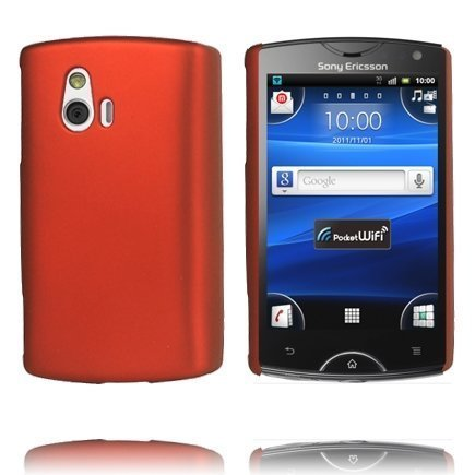 Hard Shell Punainen Sony Ericsson Xperia Mini Suojakuori