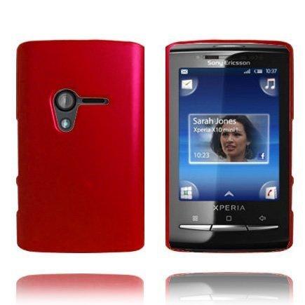Hard Shell Punainen Sony Ericsson Xperia X10 Mini Suojakuori
