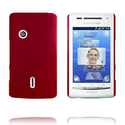 Hard Shell Punainen Sony Ericsson Xperia X8 Suojakuori