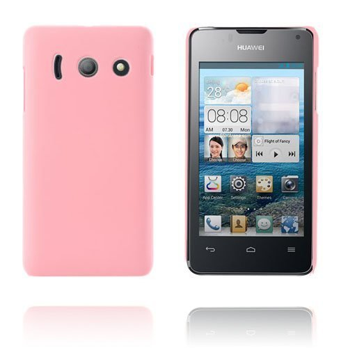 Hard Shell Vaaleanpunainen Huawei Ascend Y300 Suojakuori