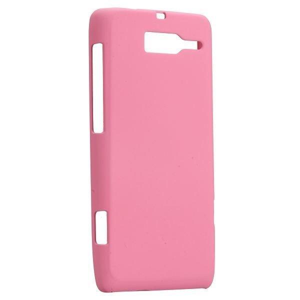 Hard Shell Vaaleanpunainen Motorola Droid Razr M Suojakuori