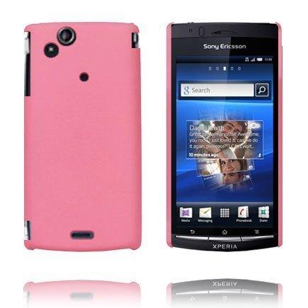 Hard Shell Vaaleanpunainen Sony Ericsson Xperia Arc Suojakuori