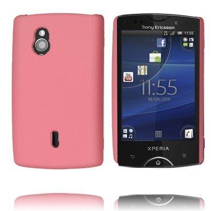 Hard Shell Vaaleanpunainen Sony Ericsson Xperia Mini Pro Suojakuori